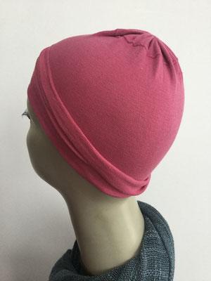 G19h - Kopfbedeckungen nach Chemo - Baumwollchäppli fein - hellrot