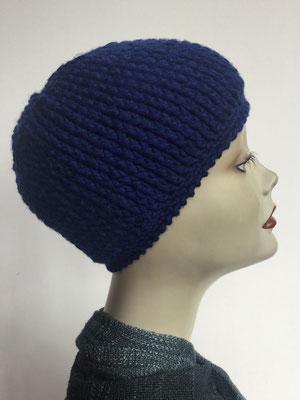 Wi 83 - Kopfbedeckung kaufen - Wintermodelle - Melone gehäkelt - dunkelblau