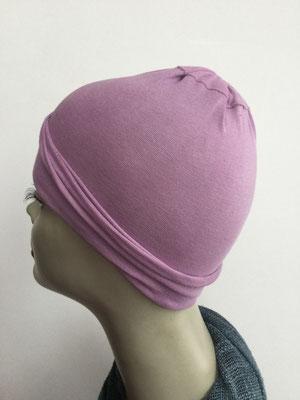 G18 - Kopfbedeckungen nach Chemo - Baumwollchäppli fein - lila