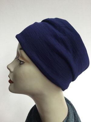 Wi 10 - Beanie genäht - dunkelblau - Kopfbedeckung kaufen