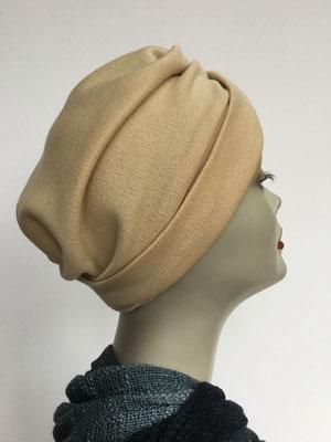 """Wi 39d - Turban """"Nizza"""" ohne Schlaufe - beige - Kopfbedeckung kaufen"""