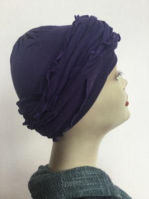 G31 - Kopfbedeckungen kaufen - Baumwollschlauch (Jersey) und Chäppli - dunkles Violett