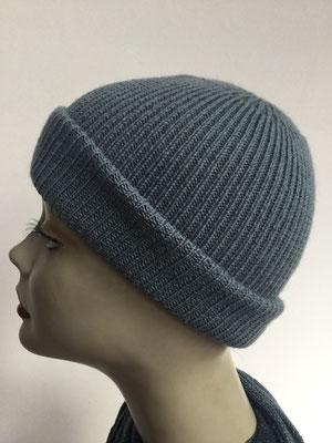Wi 99a - Vreni Lorenzini - Kopfbedeckungen kaufen- Wintermodelle - Melone gestrickt - grau