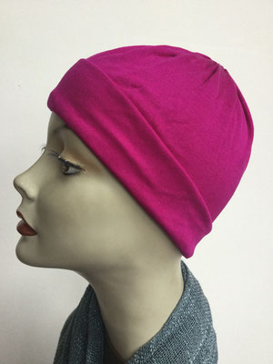 G72 - Kopfbedeckung kaufen - Seidenjersey-Chäppli fest - für Sie und Ihn - pink