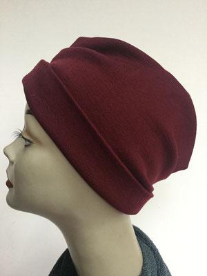 "Wi 39m - Turban ""Nizza"" ohne Schlaufe - bordeaux - Kopfbedeckung kaufen"