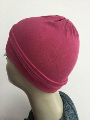 G13 - Kopfbedeckungen nach Chemo - Baumwollchäppli fein - magenta