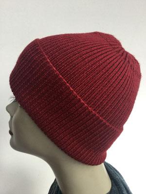 Wi 99b- Vreni Lorenzini - Kopfbedeckungen kaufen- Wintermodelle - Melone gestrickt - weinrot