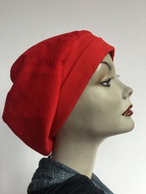 Wi 19b - Beanie genäht - Feuerrot - Vreni Lorenzini - Kopfbedeckung kaufen