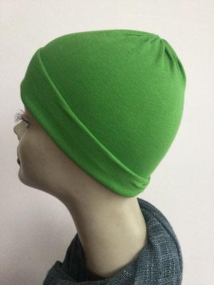 G29h - Kopfbedeckungen kaufen - Baumwollchäppli fest - grasgrün