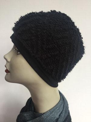 Wi 81 - Kopfbedeckung kaufen - Wintermodelle - Melone gehäkelt - schwarz