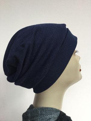 Wi 19 - Beanie genäht - dukelblau - Kopfbedeckung kaufen