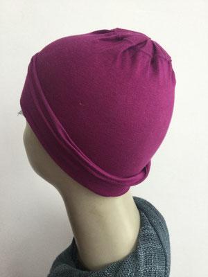 G15 - Kopfbedeckungen nach Chemo - Baumwollchäppli fein - fuchsia