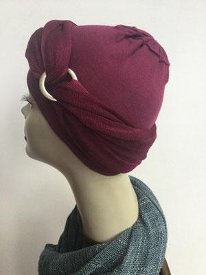 G36 - Kopfbedeckungen kaufen - Baumwollschlauch (Jersey) und Chäppli - weinrot