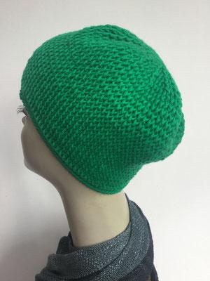 Wi 86 - Kopfbedeckung kaufen - Wintermodelle - Melone gehäkelt - grün