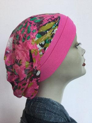 So 69q - Chemochäppli kaufen - Beanie  Schlumpfmütze einfach - pink blumig