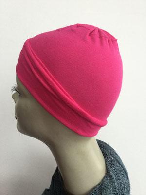 G19e - Kopfbedeckungen nach Chemo - Baumwollchäppli fein - pink