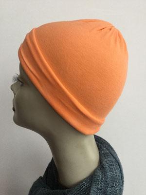 G29f - Kopfbedeckungen kaufen - Baumwollchäppli fest - orange