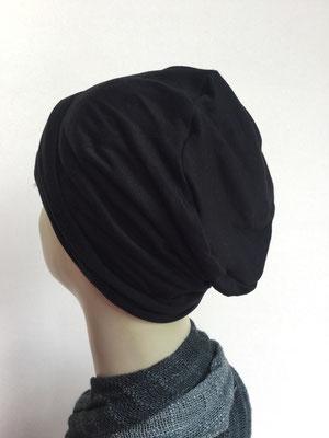 So 19u - Chemochäppli kaufen - Hutmodell Beanie (doppelte Stofflage) - schwarz