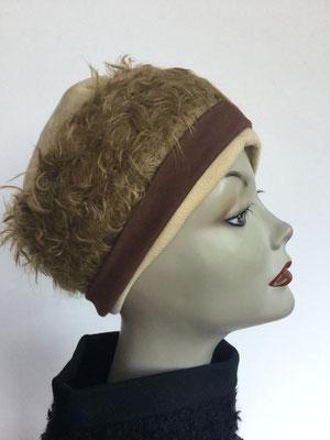 Wi 119m - Stirnband mit doppelter Baumwolle (Krempe) - sandbraun