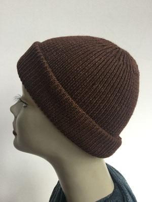 Wi 99h - Vreni Lorenzini - Kopfbedeckungen kaufen- Wintermodelle - Melone gestrickt - dunkles Braun
