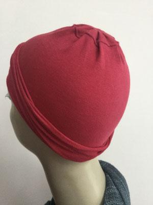 G17 - Kopfbedeckungen nach Chemo - Baumwollchäppli fein - rot