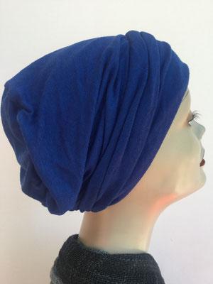 So 16 - Hutmodell Beanie (doppelte Stofflage) - uni Kobaltblau