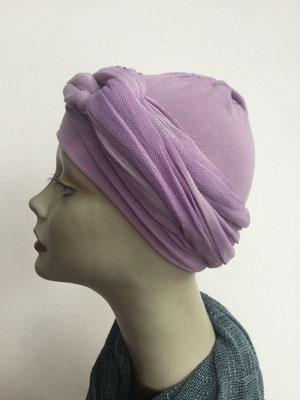 G35 - Kopfbedeckungen kaufen - Baumwollschlauch (Jersey) und Chäppli - lila