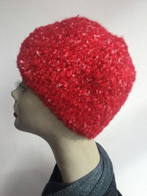 Wi 89h - Kopfbedeckung kaufen - Wintermodelle - Melone gehäkelt - rot