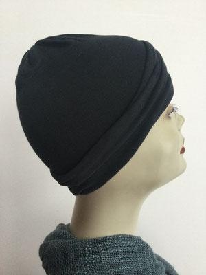 G23 - Kopfbedeckungen kaufen - Baumwollchäppli fest - schwarz