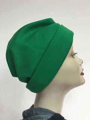 """Wi 39e - Turban """"Nizza"""" ohne Schlaufe - helles Flaschengrün - Kopfbedeckung kaufen"""