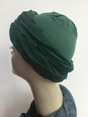 G39a - Kopfbedeckungen kaufen - Baumwollschlauch (Jersey) und Chäppli - flaschengrün