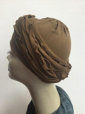 G39g - Kopfbedeckungen kaufen - Baumwollschlauch (Jersey) und Chäppli - braun