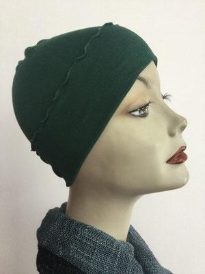 G29g - Kopfbedeckungen kaufen - Baumwollchäppli fest - flaschengrün