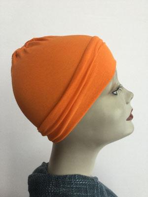 G19 - Kopfbedeckungen nach Chemo - Baumwollchäppli fein - orange leuchtend