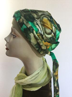 So 57 - Bajazzo Seide - Naturtöne grünlich