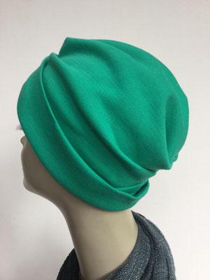 """Wi 39f - Turban """"Nizza"""" ohne Schlaufe - kaltes Grün - Kopfbedeckung kaufen"""