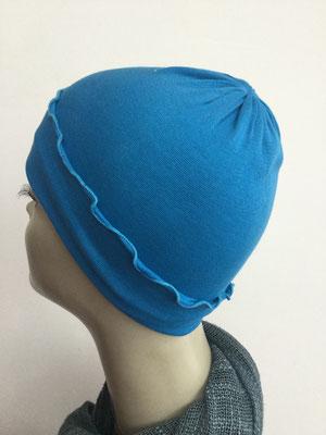 G29c - Kopfbedeckungen kaufen - Baumwollchäppli fest - kräftiges Blau