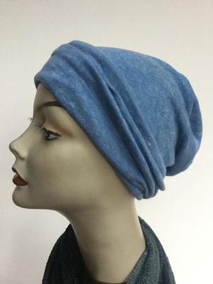 Wi 14 - Beanie genäht - hellblau - Kopfbedeckung kaufen