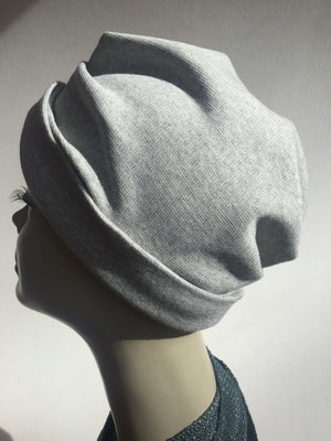 Wi 35 - Turban ohne Schlaufe- helles grau - Kopfbedeckung kaufen