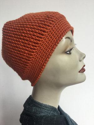 Wi 82 - Kopfbedeckung kaufen - Wintermodelle - Melone gehäkelt - Sienabraun