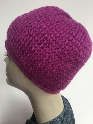 Wi 89k - Kopfbedeckung kaufen - Wintermodelle - Melone gehäkelt - fuchsia