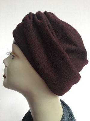 Wi 15 - Beanie genäht - dunkebraunl - Kopfbedeckung kaufen