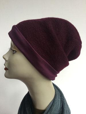 Wi 19f - Beanie genäht - bordeaux - Kopfbedeckung kaufen