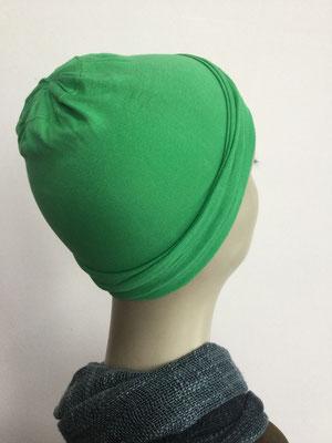 G19f - Kopfbedeckungen nach Chemo - Baumwollchäppli fein - grasgrün