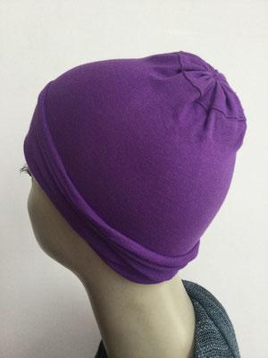 G11 - Kopfbedeckungen nach Chemo - Baumwollchäppli fein - violett