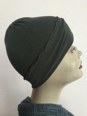 G29a - Kopfbedeckungen kaufen - Baumwollchäppli fest - dunkelgrün
