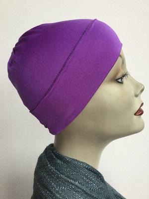 G76 - Kopfbedeckungen kaufen - Seidenjersey-Chäppli fest - für Sie und Ihn - hellviolett