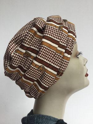 Wi 13 - Beanie genäht - Brauntöne vintage elegant - Kopfbedeckung kaufen