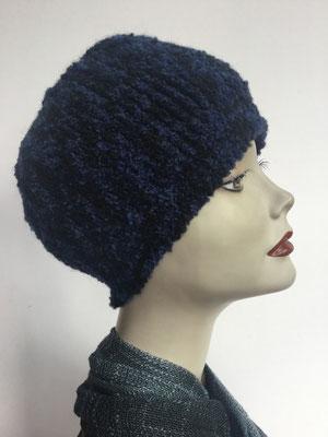 Wi 89m - Kopfbedeckung kaufen - Wintermodelle - Melone gehäkelt - blauschwarz