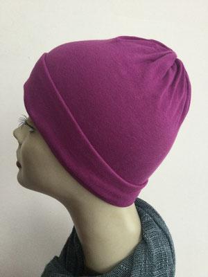 G22 - Kopfbedeckungen kaufen - Baumwollchäppli fest - fuchsig